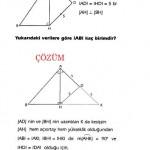 Çözülü özel üçgen sorusu ve çözümleri