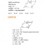 Çözümlü paralelkenar geometri soru ve çözümü