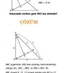 Özel üçgen sorusu ve çözümleri