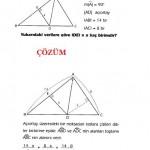 üçgende açıortay soru ve çözümü