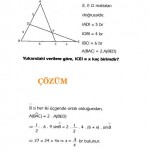 üçgende alan ile ilgili soru ve çözümler