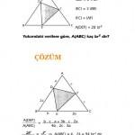 üçgende alan konusuyla ilgili soru ve çözümler