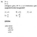 üslü sayılarla ilgili çözümlü çıkmış sorular matematik testleri