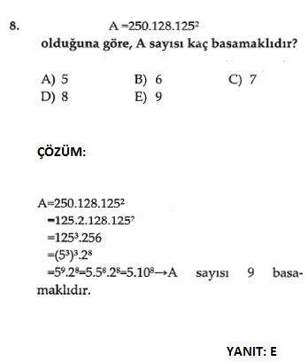 üslü sayılarla ilgili çözümlü soru bankası ve cevapları sbs