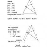 İkizkenar üçgen çözümlü soruları