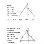 İkizkenar ve eşkanar üçgen sınav sorusu