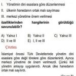 İslam Öncesi Türk Tarihiyle İlgili Çözümlü Sorular KPSS