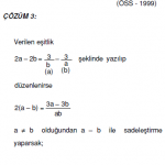 1.dereceden denklemlerle ilgili çözümlü sorular kpss öss