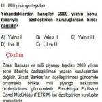 2009 Yılının Özelleştirilen Kuruluşu İle ilgili Çözümlü Sorular KPSS