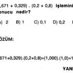 2009 matematik ygs rasyonel sayılarla ilgili çıkmış sorular ve çözümleri