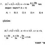 2010 ygs de çıkmış rasyonel sayılarla ilgili sorular ve çözümleri