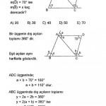ALES üçgende açı sorusu ve çözümü
