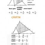 ALES KPSS LYS üçgende alan sorusu ve çözümü