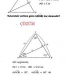 ALES sınavlarına hazırlık çözümlü özel üçgen sorusu