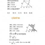 ALES sınavlarına hazırlık geometri paralelkenar soru ve çözümü