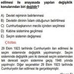Anayasada Yapılan Değişiklikle İlgili Çözümlü Sorular KPSS