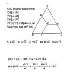 Eşkenar üçgen ve parelellik sorusu