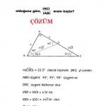 Geometri özel üçgen çözümlü sorusu ve cevabı