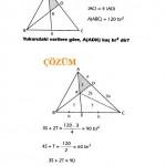 Geometri üçgende alan sorusu ve çözümü