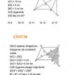 Geometri eşkenar dörtgen sınav soru ve çözümü