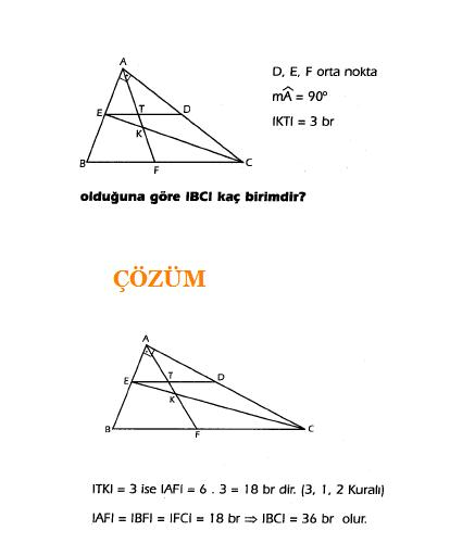 Geometri kenarortay soru ve çözümü