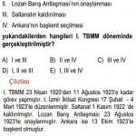 I.TBMM Dönemiyle İlgili Çözümlü Sorular KPSS
