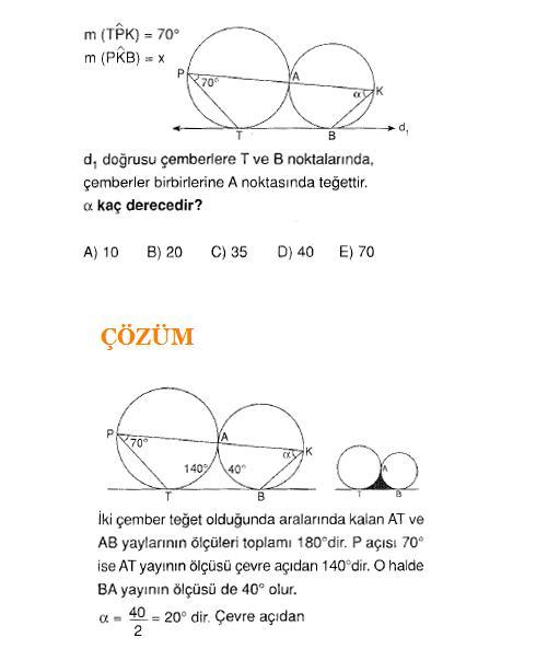 KPSS LYS YGS ALES sC4B1navlarC4B1na hazC4B1rlC4B1k geometri C3A7ember soru ve C3A7C3B6zC3BCmleri