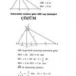 KPSS geometri açıortay soru ve çözümü