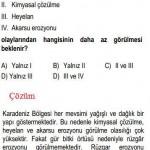 Karadeniz Bölgesi İle ilgili Çözümlü Sorular KPSS