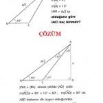 LYS ve YGS çözümlü özel üçgen sorusu