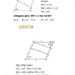 LYS ve YGS eşkenar dörtgen sınav sorusu ve çözümü