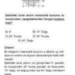 Matematik Konumla İlgili Çözümlü SOru