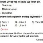 Osmanlı Devletiyle İlgili Çözümlü Sorular KPSS