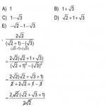 Rasyonel Sayılarla İlgili Çözümlü Sorular KPSS