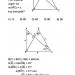 Sınavlara hazırlık üçgende açı sorusu ve çözümü