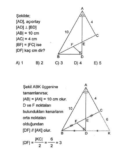 Sınavlara hazırlık geometri soruları