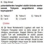 Türkçenin Zenginleşmesiyle İlgili Çözümlü Sorular KPSS