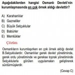 Türk İslam Devletiyle İlgili Çözümlü Sorular KPSS