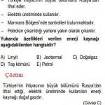 Türkiyenin Enerji Kaynakları İle ilgili Çözümlü Sorular KPSS
