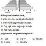 Türkiyenin Nüfus Piramidi İle İlgili Çözümlü Sorular KPSS