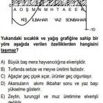 Türkiyenin Sıcaklık ve Yağış Grafiği  İle ilgili Çözümlü Sorular KPSS