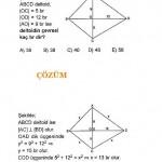 eşkenar dörtgen geometri sorusu ve çözümü