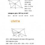 eşkenar dörtgen ile ilgili çözümlü sorular