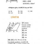 geometri ve paralelkenar soru ve çözümleri