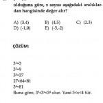 kpss üslü sayılarla ilgili çözümlü soru testleri ve cevapları