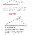 okul sınavlarına hazırlık çözümlü özel üçgen sorusu ve çözümü