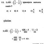 rasyonel sayılarla ilgili cevap anahtarlı çıkmış sorular ve çözümleri