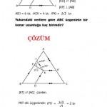 sınava hazırlık çözümlü özel üçgen sorusu ve çözümü