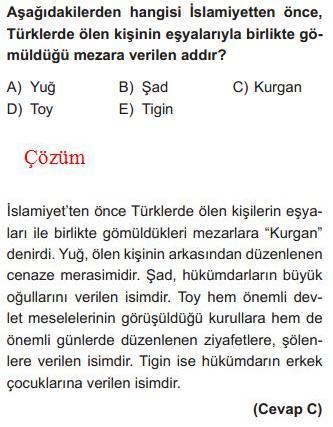 İslam Öncesi Türk Tarihi İle İlgili Çözümlü Sorular KPSS