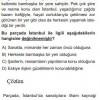 Paragraf Anlamı İle İlgili Çözümlü Soruları SBS